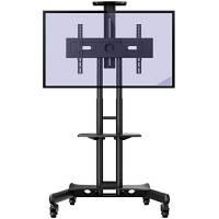 """Invision Supporto TV da Pavimento con Ruote Carrello Staffa Porta Mobile Stand Orientabile per Schermi 32"""" a 65"""" - Antiribaltamento Ultra-Stabile – Max VESA 600mm(L)x400mm(A) [GT1200 ScreenStation]"""